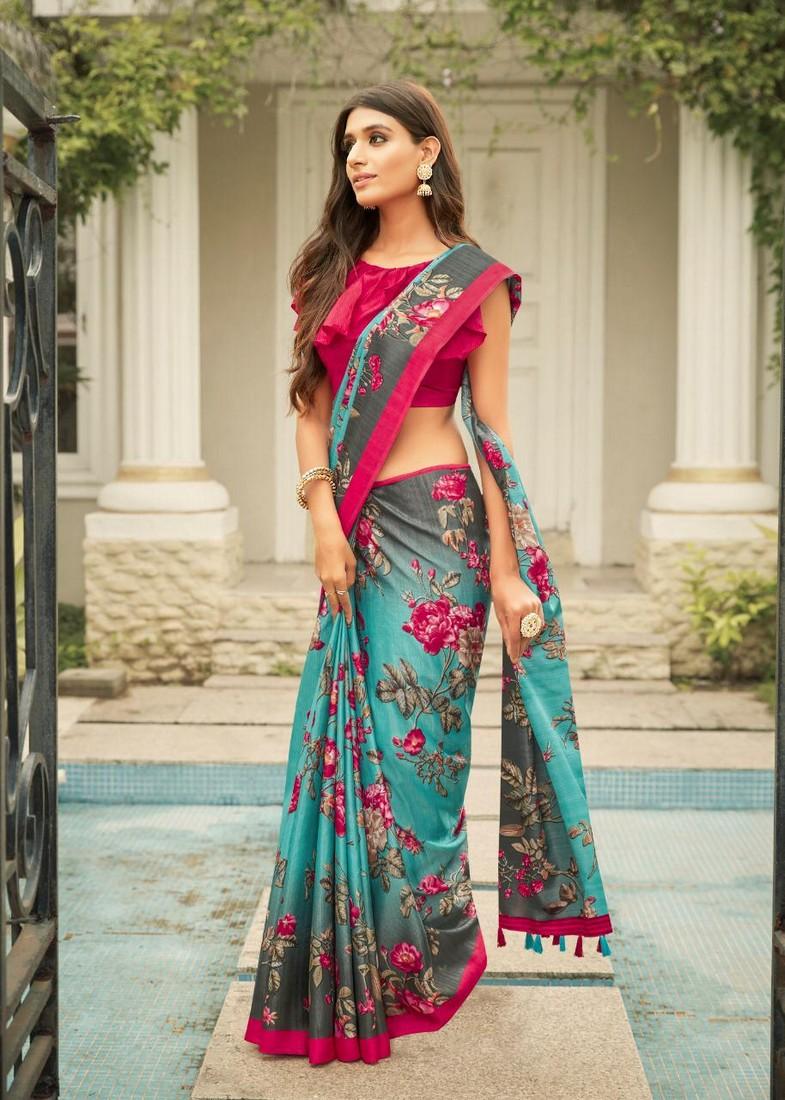 Details about  /Saree Indira Traditional wear  material cotton women art silk designer red
