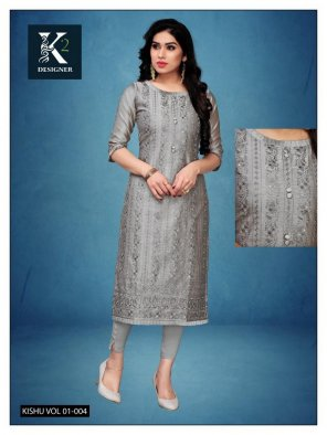grey chiken fabric lakhnavi work casual