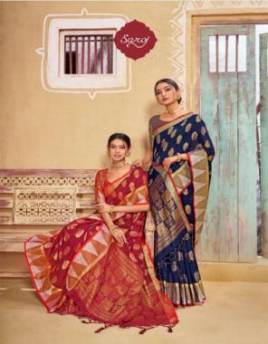 blue banarasi silk fabric weaving jacqaurd work wedding
