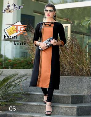 orange black cotton length 42 fabric handwork work casual