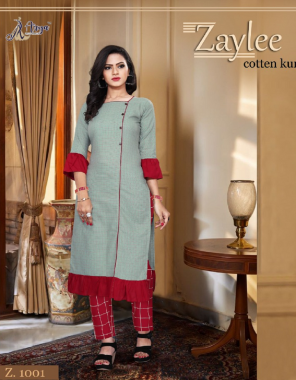 light mehndi slub cotton length 45 fabric printed work party wear