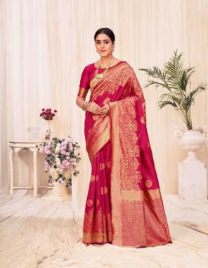 red banarasi silk fabric weaving jacqaurd  work wedding