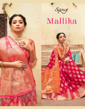 pink dolla chep silk fabric weaving jacqaurd  work ethnic