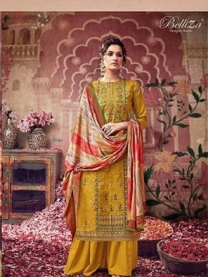musterd silk fabric embroidery work festival