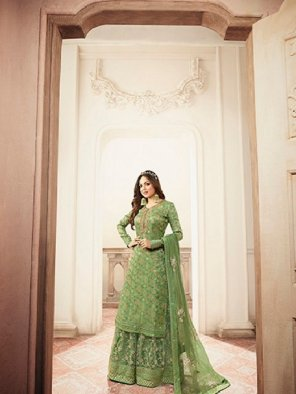 pista dola jaquard fabric embroidery work wedding