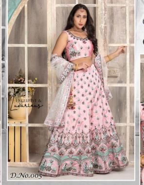 pink lehenga -taffeta length 42  blouse -taffeta   dupatta -soft net 2.15m fabric digital print thread work work running