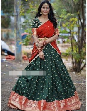 green lehenga -kanjivaram silk 3m |blouse -banglori satin 1m |vorni -organza embroidery 2.20m fabric embroidery sequence work ethnic