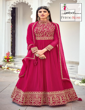 pink top -pure georgette heavy embroidery |bottom +inner -dull santoon |dupatta -nazmin  fabric embroidery work running