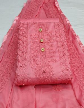 red top -cotton 2.10m |bottom -cotton 2m |dupatta -nazmin 2m fabric embroidery work running