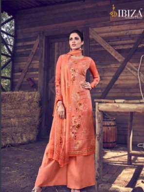 peach upada silk fabric digital print work casual
