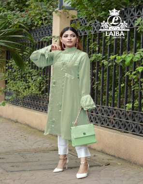 pista top -pure georgette |inner - pure santoon |pant -pure cotton satin strachable  fabric handwork lacework work running