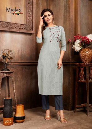 grey fancy fabric embroidery work casual