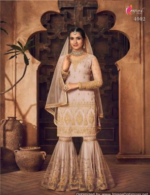 light pink georgette fabric embroidery work wedding