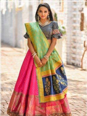 rani jacquard fabric zari,dori work wedding
