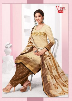 light chikoo pure cotton fabric printed work casual