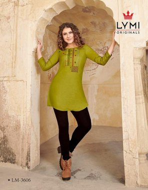 olive rayon fabric embroidery work casual