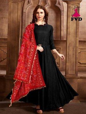 black rayon fabric plain work wedding