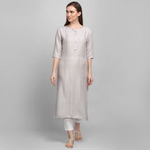 off white viscose fabric plain work casual