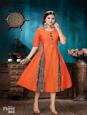 orange south cotton fabric plain work casual