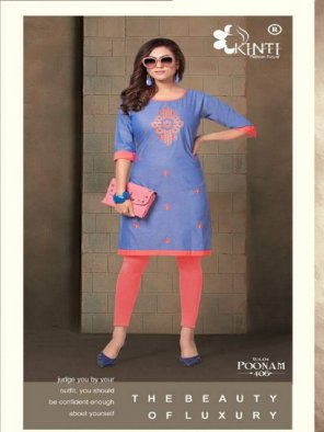blue handloom cotton fabric embroidery work casual