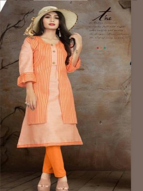 orange south cotton fabric printed work casual