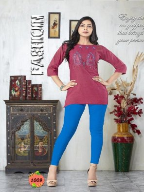 grape rayon fabric embroidery work casual
