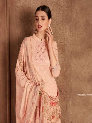 peach jaam digital fabric embroidery work party