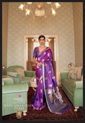 violet silk fabric weiving work festive