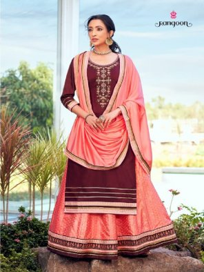 maroon jam silk fabric embroidery work occasionaly