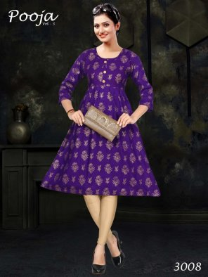 violet rayon fabric printed work casual