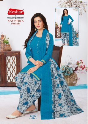 sky blue cotton  fabric printed work party