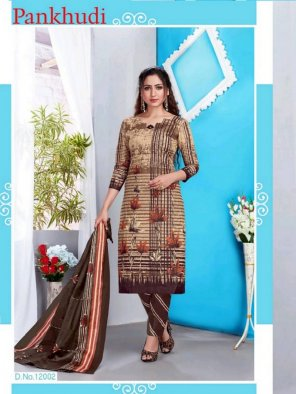 latte pure cotton fabric printed work casual