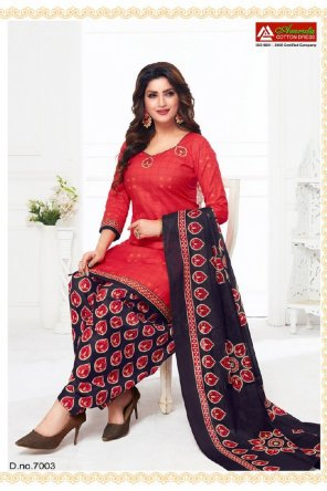 rose red pure cotton fabric ptinted work casual