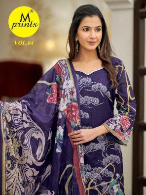 violet cotton fabric printed work ethnic