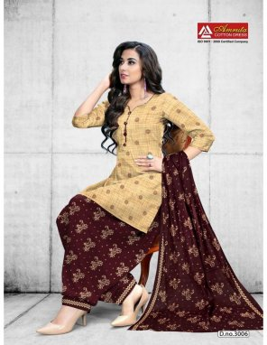 cream pure cotton fabric ptinted work casual