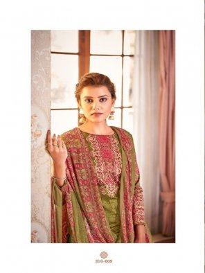 mhendi green jam cotton fabric printed work ocassinaly