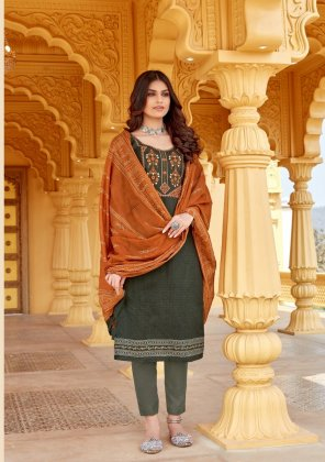dark grey lawn cotton fabric embroidery work casual