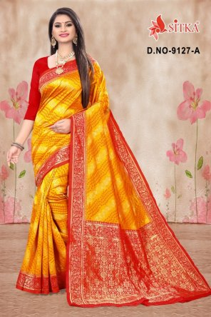 yellow cotton fabric printed work festival