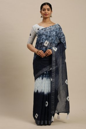 black linen cotton fabric dyed print work casual