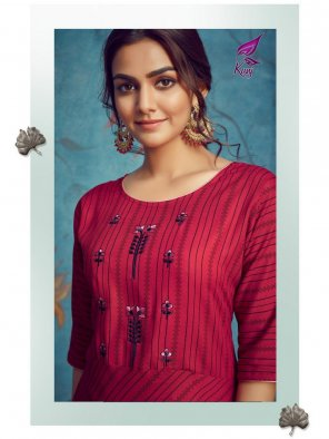 red havy rayon fabric embroidery work wedding