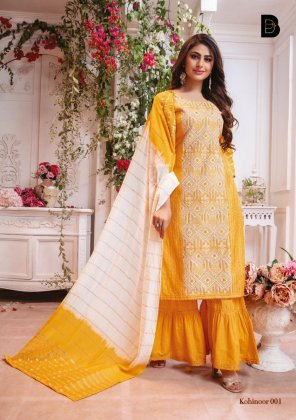yellow chanderi fabric embroidery work wedding