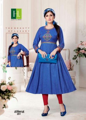 navy blue rayon fabric embroidery work occasionaly
