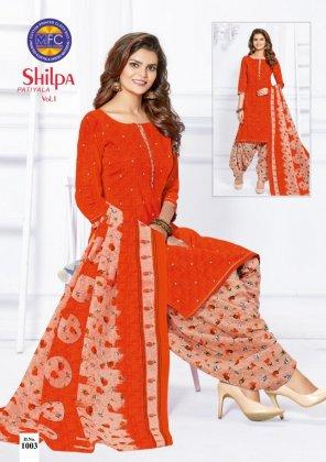 orange cotton fabric printed  work occasionaly