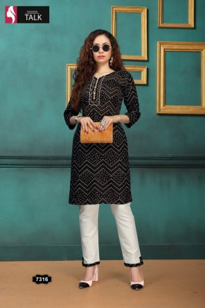 black rayon fabric printed work occasionaly