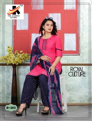 pink cotton fabric printed work festival