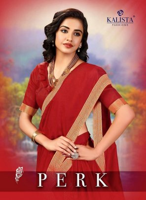 red vichtra silk fabric printed work occasionaly