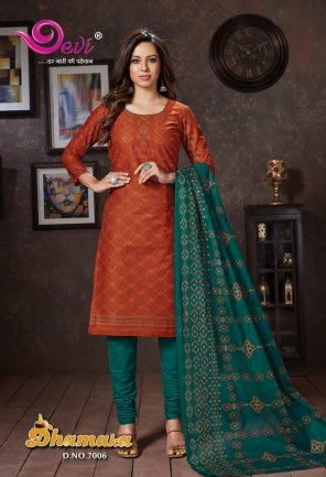 brown pure cotton fabric printed work occasionaly
