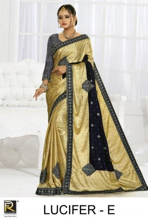 yellow lycra velvet fabric embroidery work fastival