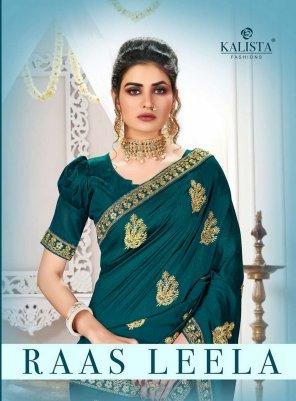 rama green vichtra silk fabric embroidery work fastival