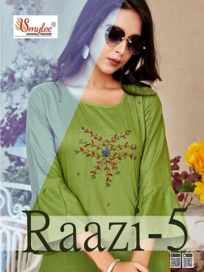 mhendi green rayon fabric embroidery work festival